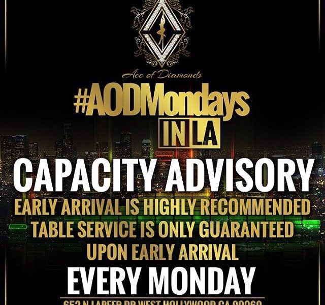 Ace of Diamonds Monday's. AOD Mondays Strip Club